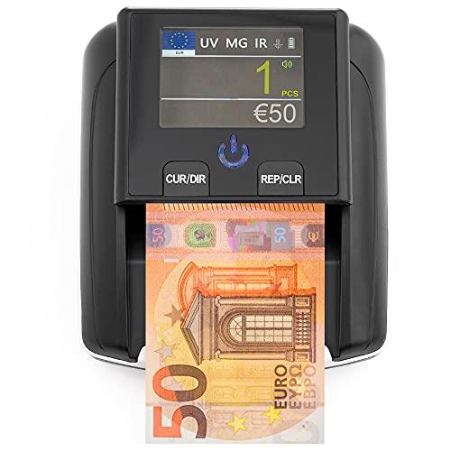 Detector Billetes Falsos & Contador de Billetes 2-en-1 -...