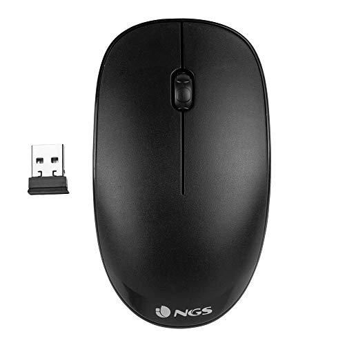 NGS FOG BLACK - Ratón Óptico Inalámbrico 2.4GHz, Ratón...
