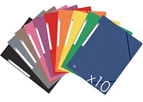 Oxford Top File+ Carpeta con gomas - Tapas de cartón con...