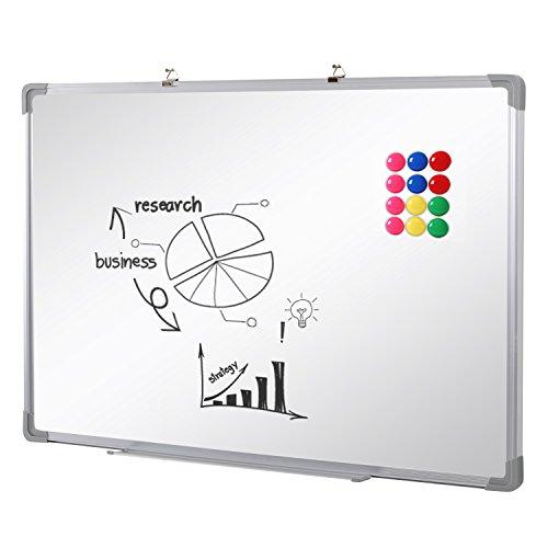 SwanSea oficina pizarra blanca magnética con pen tray y 12...