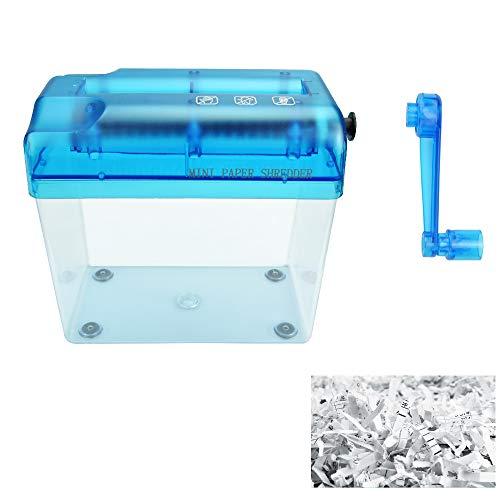 SNAGAROG Trituradora manual de papel de mano, trituradora de...