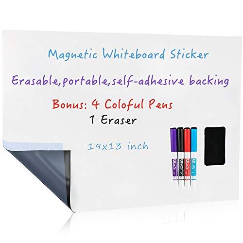 UCMD Pizarra blanca magnética de borrado en seco para...