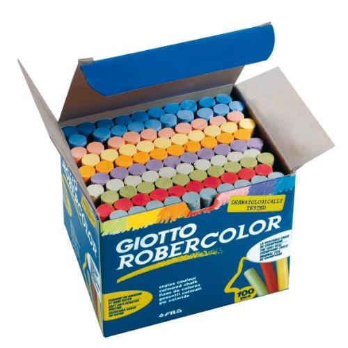 Giotto- Robercolor Tizas, 100 unidades, colores surtidos...