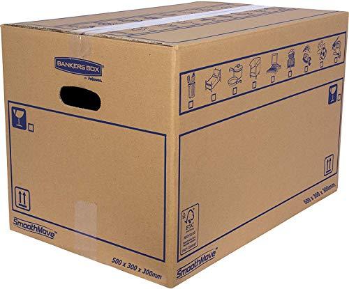 Bankers Box 6208201 Pack 10 Cajas de Cartón 50 x 30 x 30 cm...