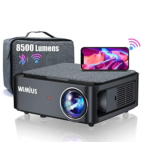 Proyector WiFi Bluetooth Full HD 1080P, 8500 Lúmenes WiMiUS...