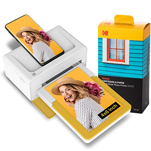 Kodak PD460 Dock Plus, Impresora Fotos movil 10X15Cm, con 90...