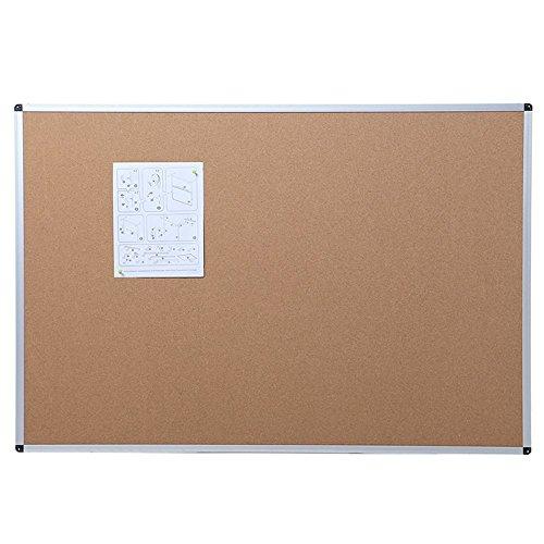 VIZ-PRO Tablero de corcho con marco de aluminio, 120 x 90 cm