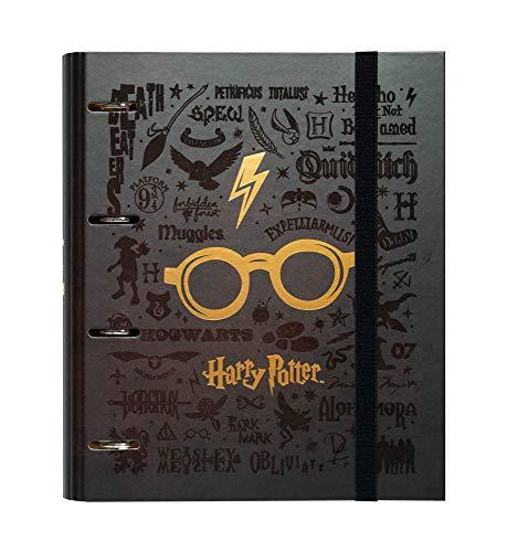 ERIK - Carpeta 4 anillas troquelada premium Gafas, Harry...
