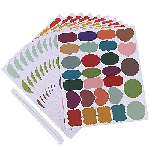 MUXItrade 280 PCS Etiquetas de colores con 1 marcador...