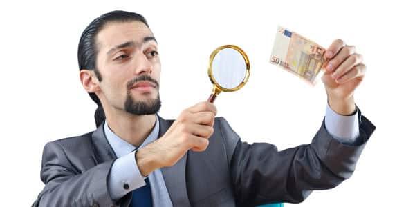 detector de billetes falsos puntos claves