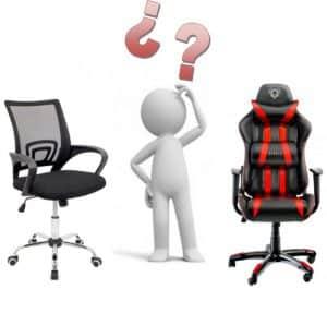 silla gamer VS silla oficina