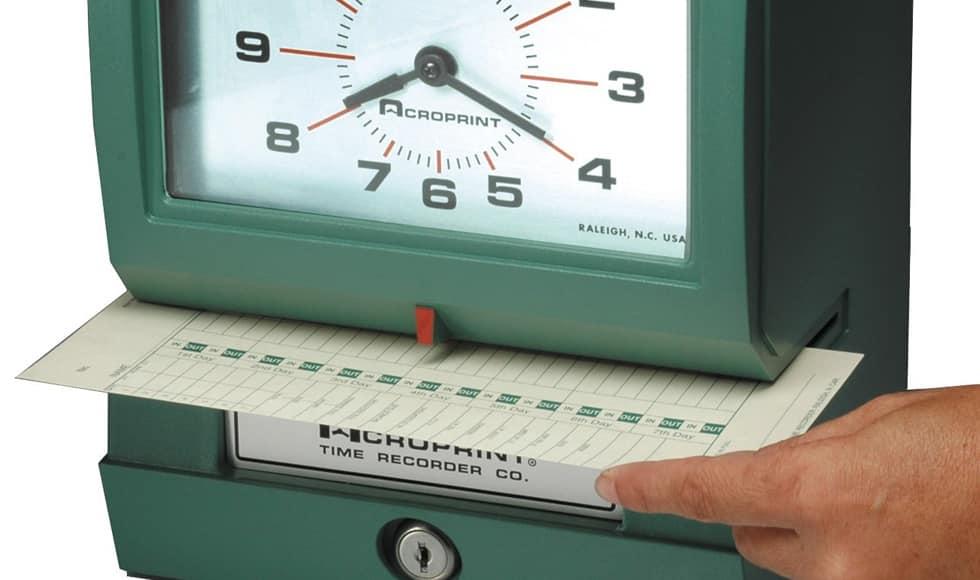 máquinas de fichar antigua