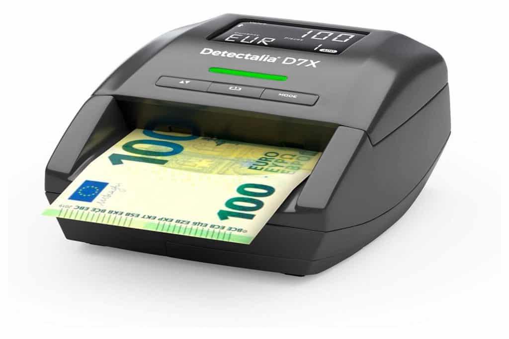 Detectalia D7X Detector de billetes falsos