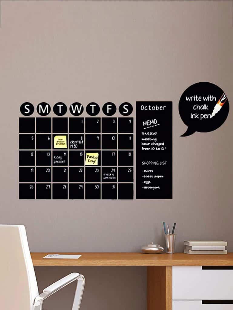 pegatinas adhesiva calendario