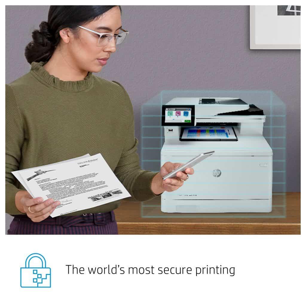 HP Color LaserJet Enterprise M480f segura