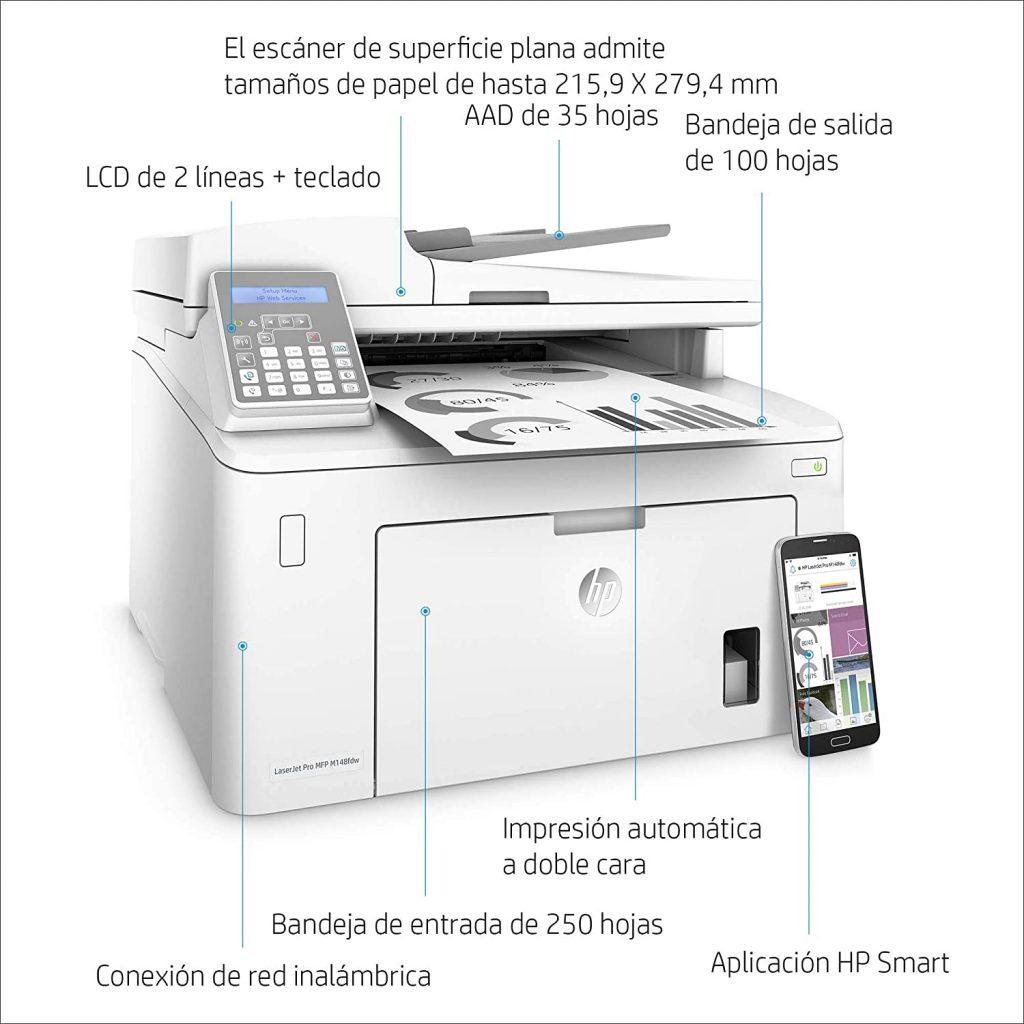 HP LaserJet Pro MFP M148fdw caracteristicas