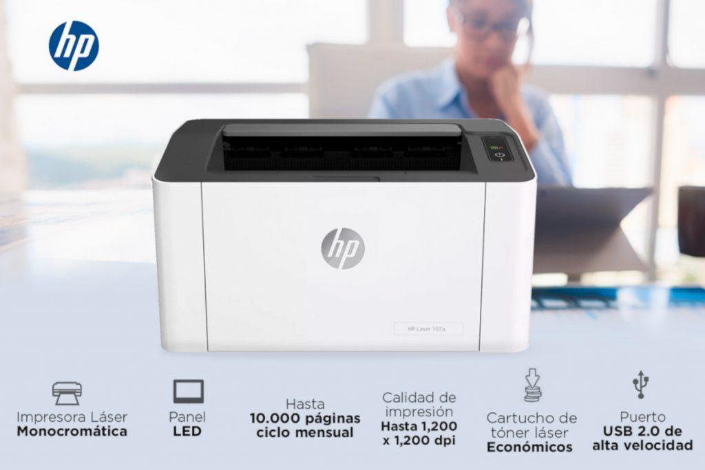 Análisis de la impresora HP Laser 107a