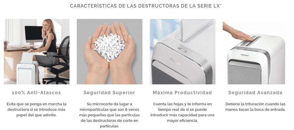 Destructoras Fellowes LX Series